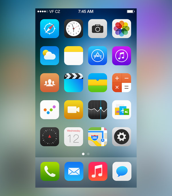 iOS 7 Icons by Jackie Tran Anh