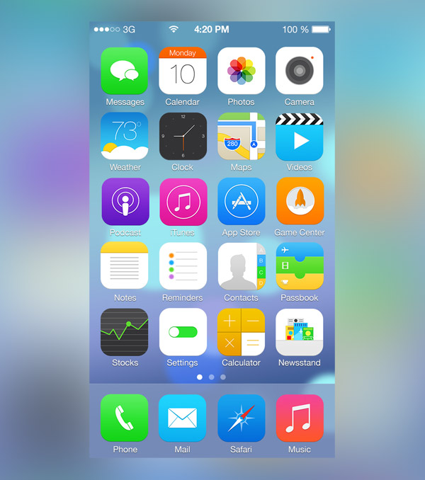 iOS 7 V2 by Ross Legacy