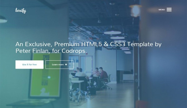 One Page Free HTML5 and CSS3 Template
