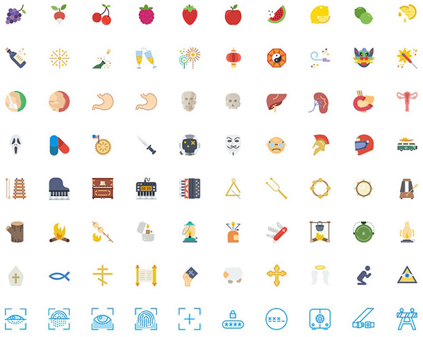 Smashicons: 250 Different-style Free Icons