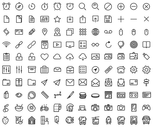 120 Free Outlined Multi-purpose Icons