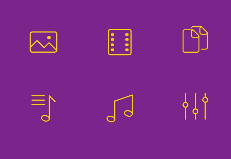 PSD, AI, EPS and SVG Simple Line Icons