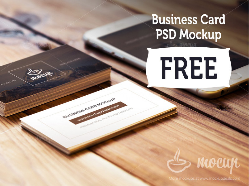 Business Cards and iPhone PSD Mockups Mockups