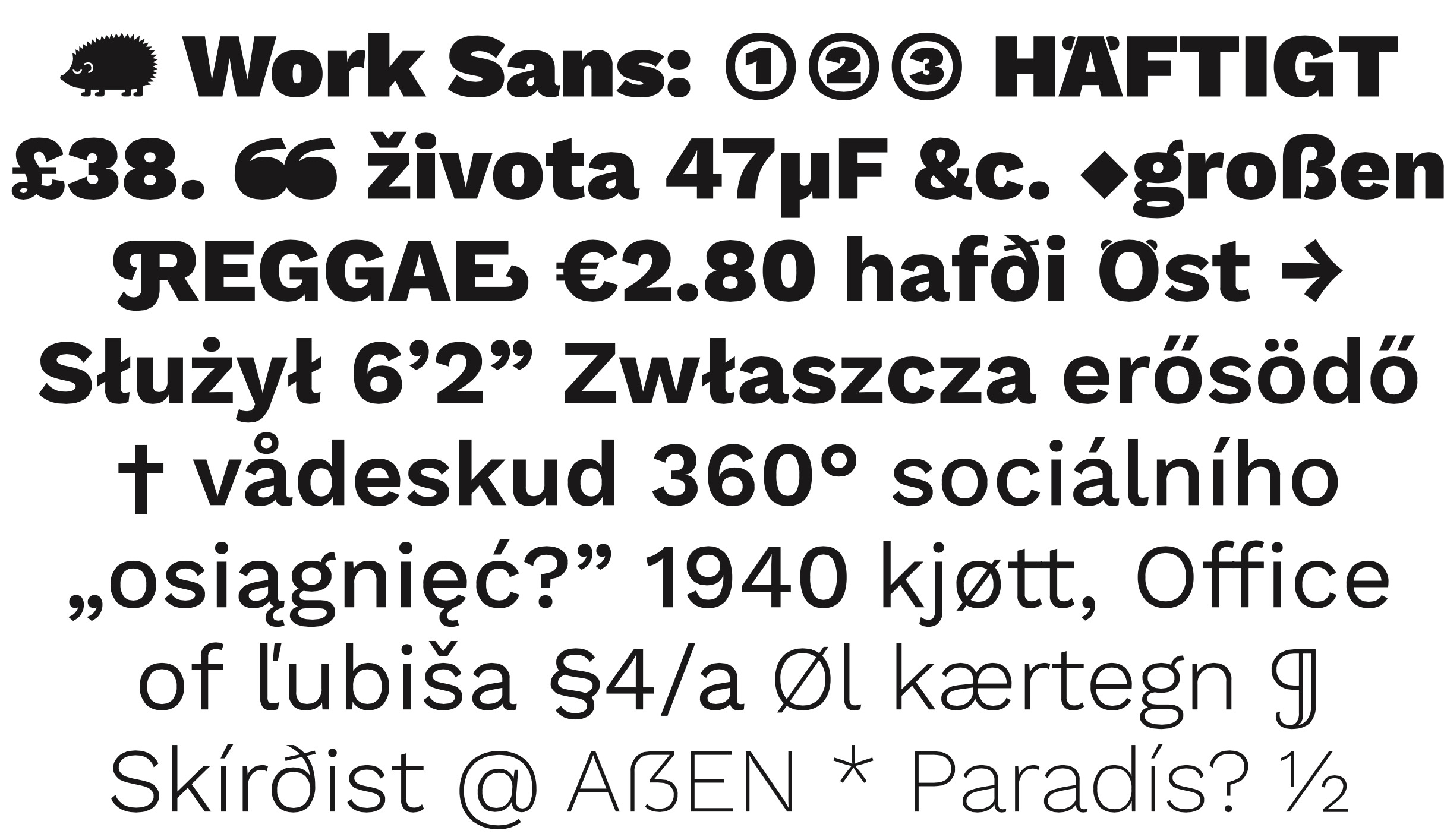 Work-Sans: Formal and Multi-weight Typeface