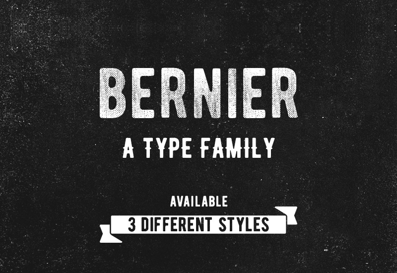 Bernier: Vintage 3-styled Uppercase Typeface