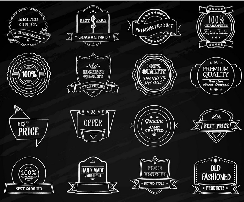 Over 100 On-blackboard Chalk Vector Elements