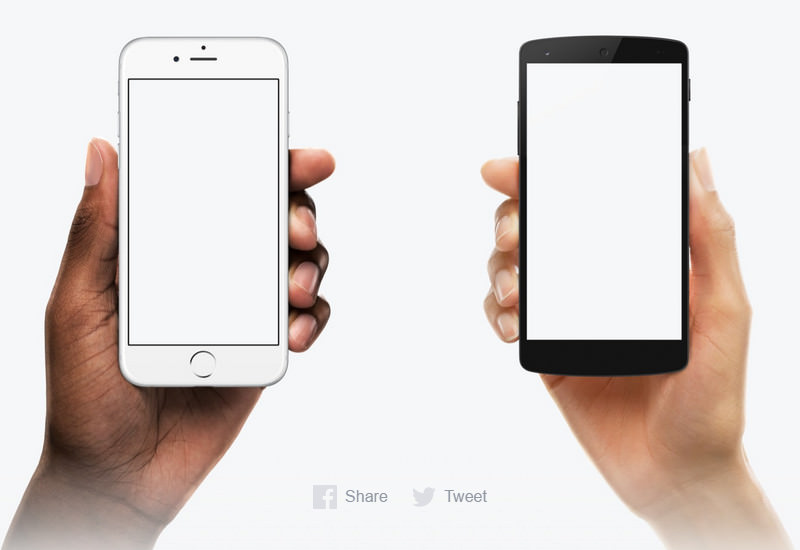 Diverse Device Hands: Hand-held Devices Mockup