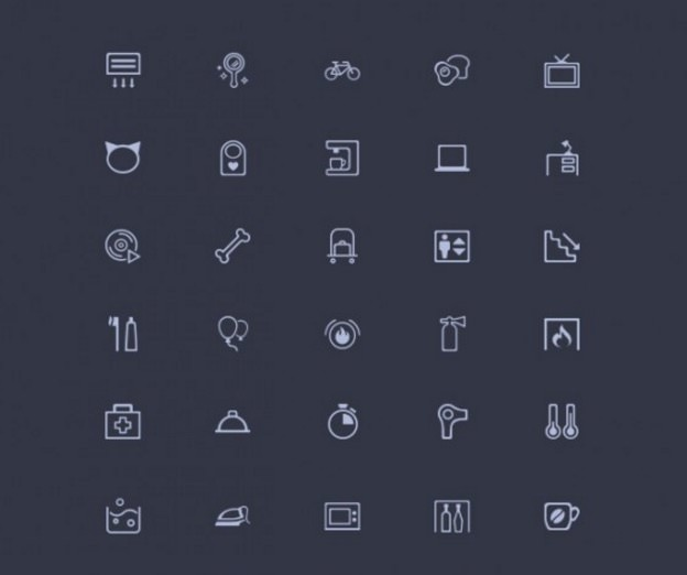 Amenities: 50 Misc PSD Line Icons