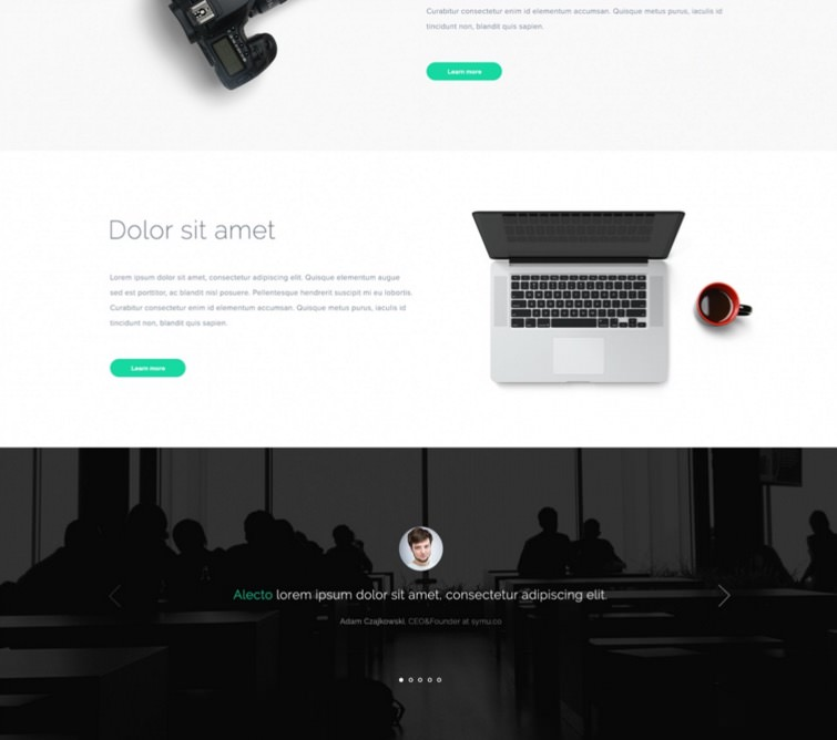 Alecto: Business PSD Web Template