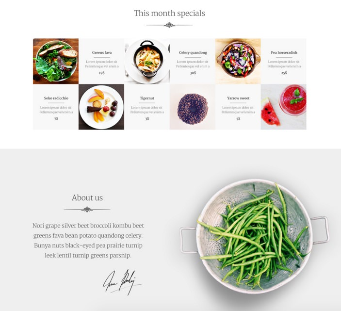 Veggie: Free Cooking Web PSD Template