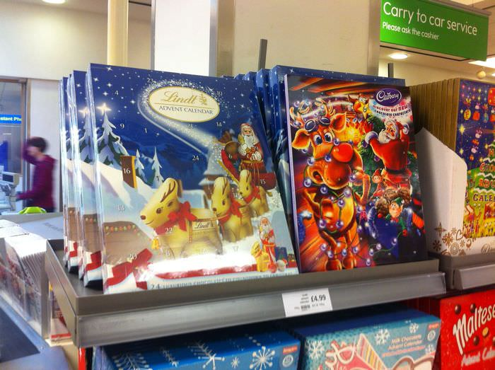 Advent Calendars in a Supermarket