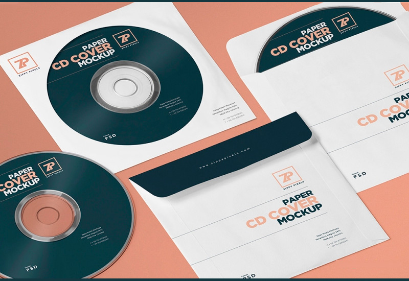 Isometric CD Cover PSD Mockup Generator