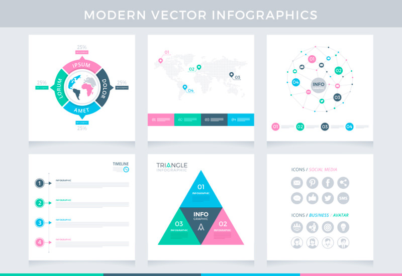 Modern Infographic Vector Templates Pack