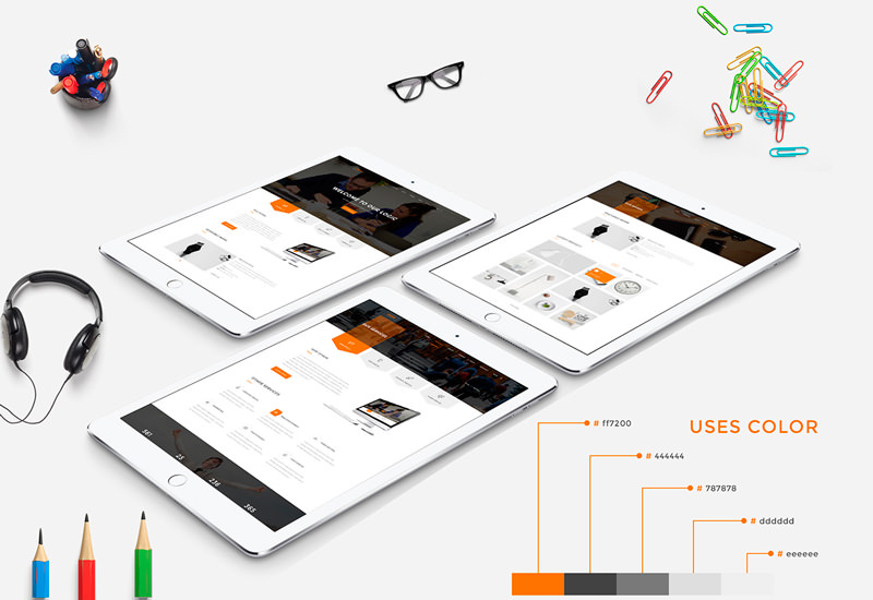 Logic: Multipurpose Business PSD Web Template