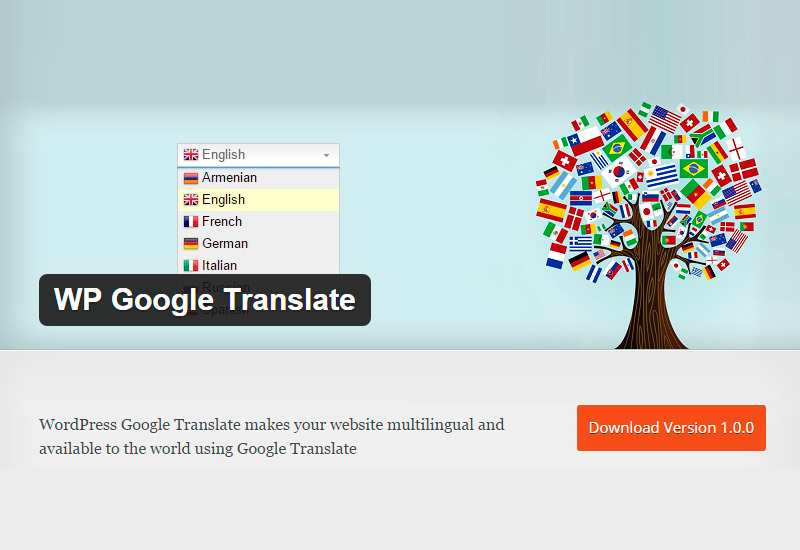 WP Google Translate: WordPress Plugin