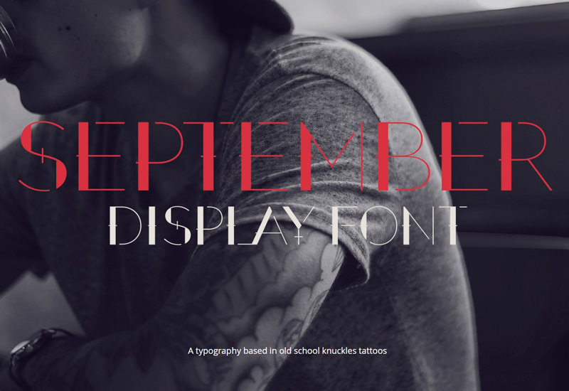 September: 3-Style Display Font