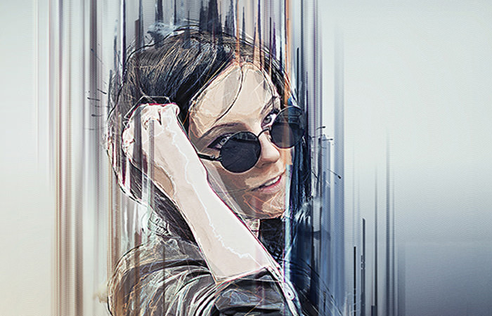 artista photoshop action painting