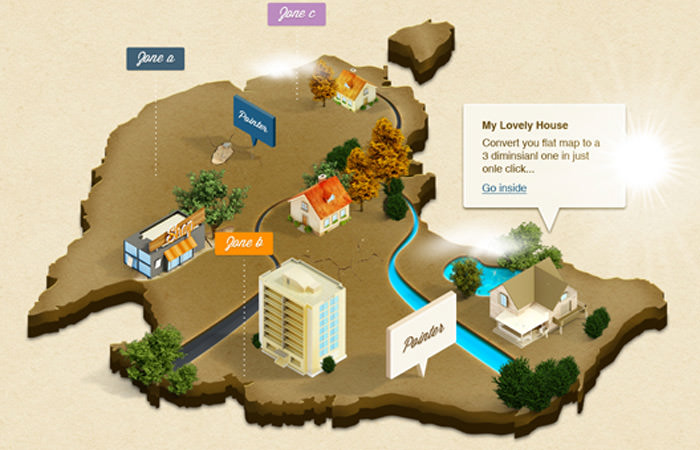 isometric maps 3d actions atn