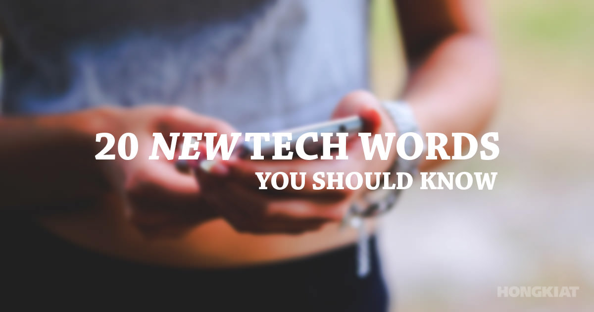 new tech words