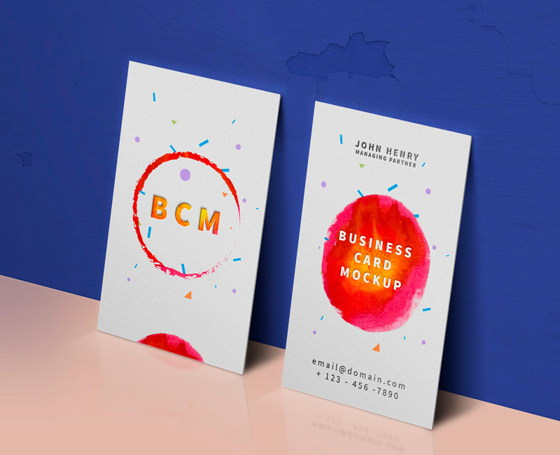 Standing Business Cards