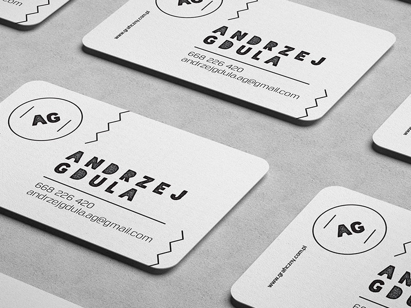 Rounded Busines Card Mockups