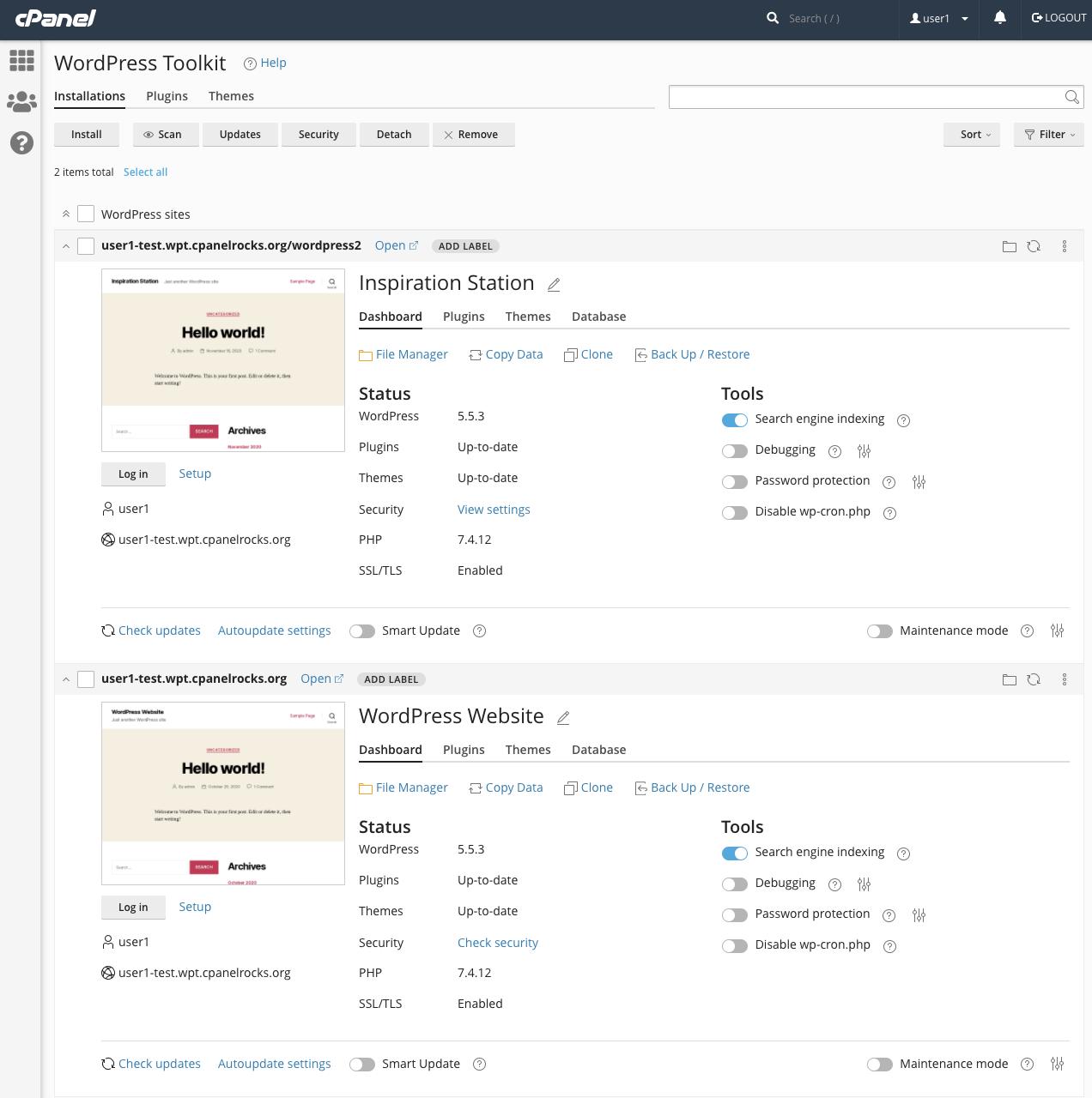 WordPress Toolkit Overview
