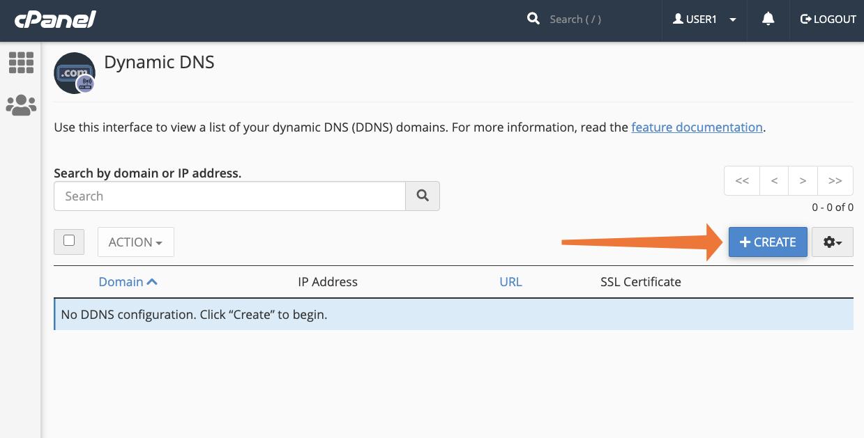 cPanel Create Dynamic DNS