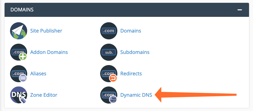 cPanel Dynamic DNS